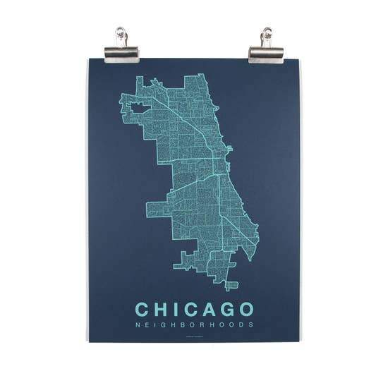 Chicago Neighborhood Map - May Wynn