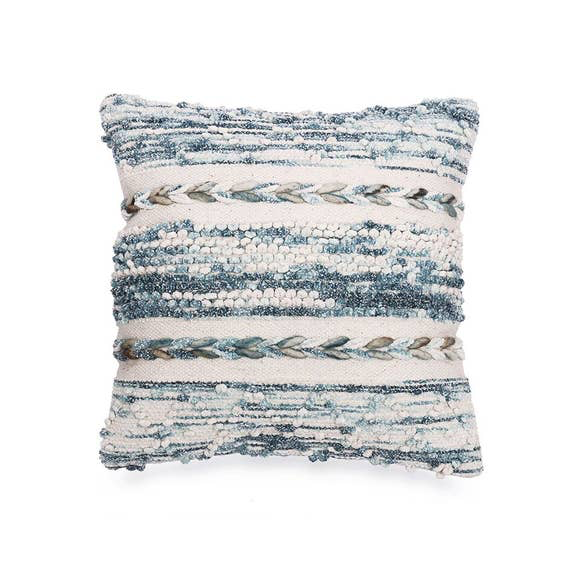 "18"" Space Dyed Indigo Pillow - May Wynn"