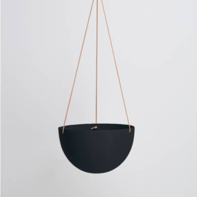 Block Color Dome Hanging Planter - Midnight