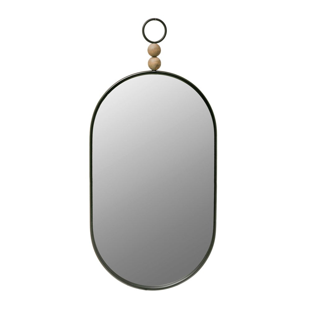 Kenna Wood Bead Mirror