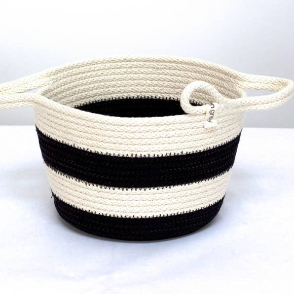 B&W Striped Small Bowl