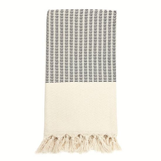 Plush Wavy Turkish Towel - May Wynn
