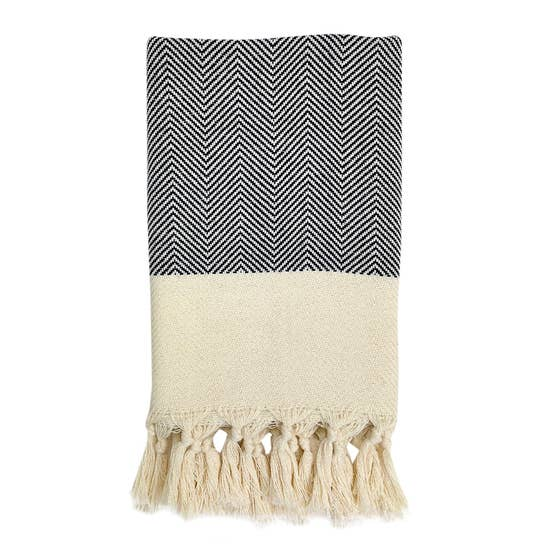 Herringbone Turkish Hand Towel - May Wynn