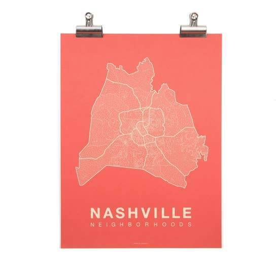 Nashville Neighborhood Map - May Wynn