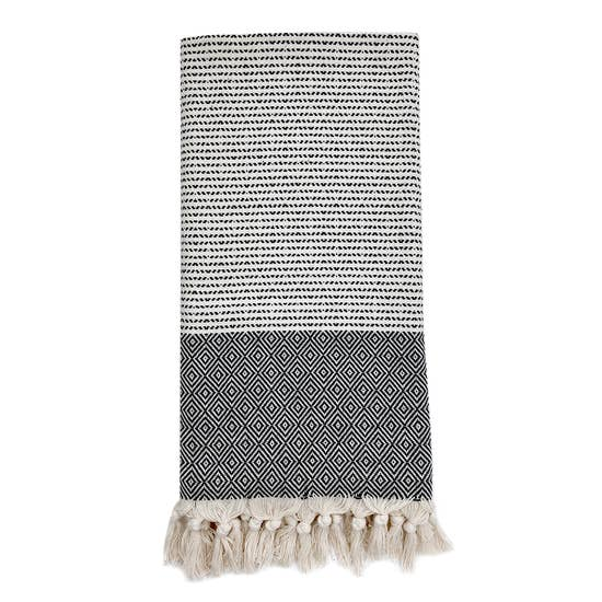 Diamond Stripe Turkish Towel - May Wynn