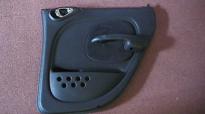 01- 05 PT CRUISER PASSENGER SIDE REAR DOOR TRIM PANEL-- BLACK AND GRAY-- OEM