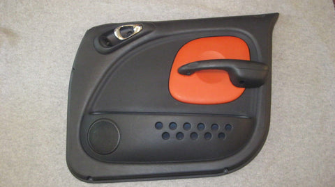 03 PT CRUISER PASSENGERS SIDE FRONT DOOR PANEL BLACK WITH ORANGE SERIES 2 - OEM