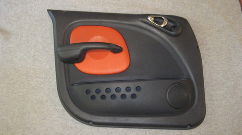 03 PT CRUISER DRIVERS SIDE FRONT DOOR PANEL BLACK WITH ORANGE - SERIES 2 -- OEM