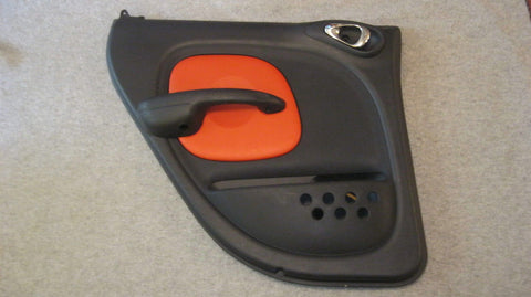 03 PT CRUISER DRIVERS SIDE REAR DOOR PANEL BLACK WITH ORANGE SERIES 2