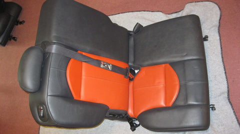 03- PT CRUISER PASSANGER SIDE REAR SEAT---SERIES 2-- ORANGE IN COLOR -- OEM