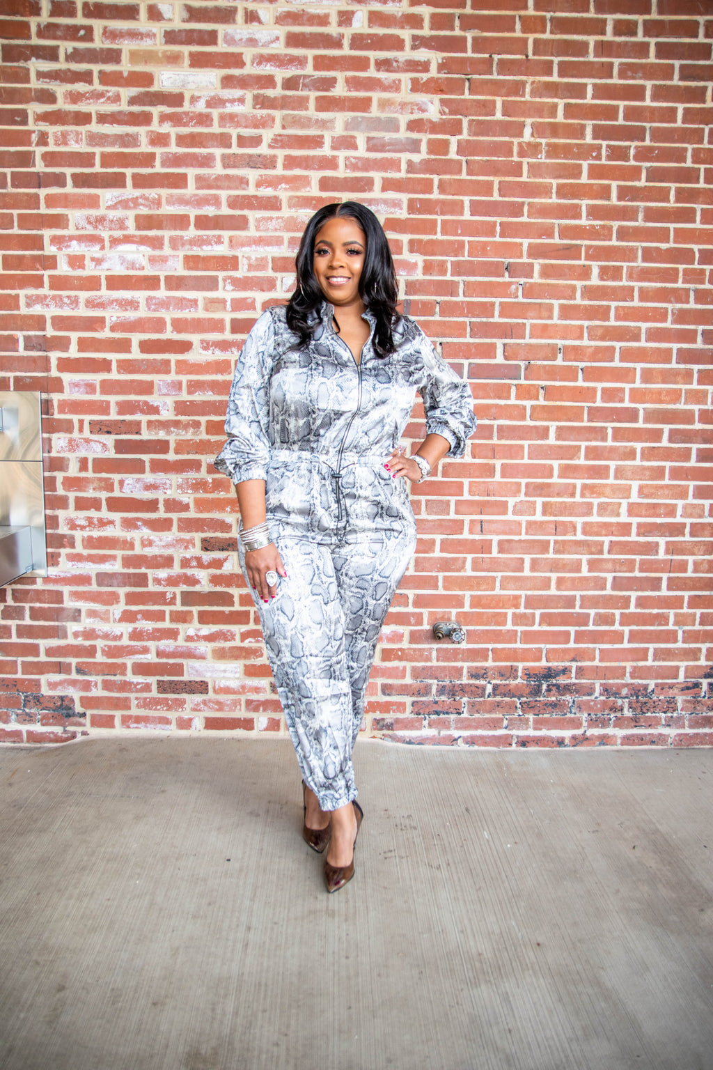 Snake Charmer Jumpsuit (Plus)