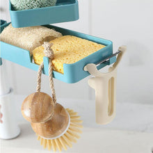 Load image into Gallery viewer, Multifunctional Rotatable Large Capacity Double-layer Sponge Storage Rack