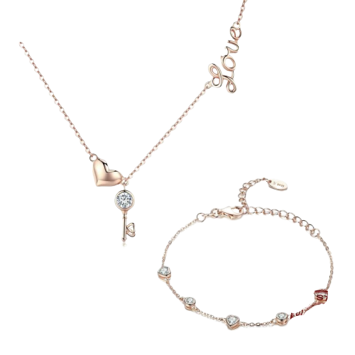 Sterling Silver Jewellery Set - SCN292+SCB097