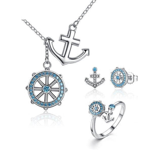 Sterling Silver Jewellery Set - ZHS035