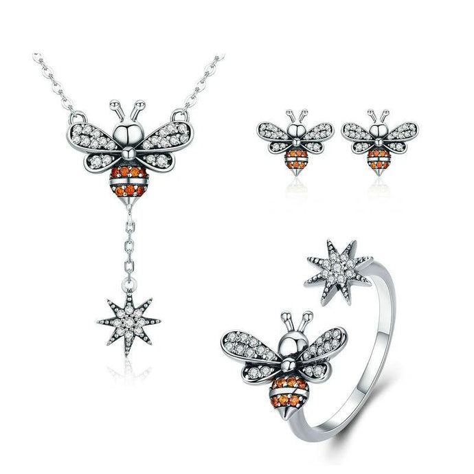 Sterling Silver Jewellery Set - ZHS056
