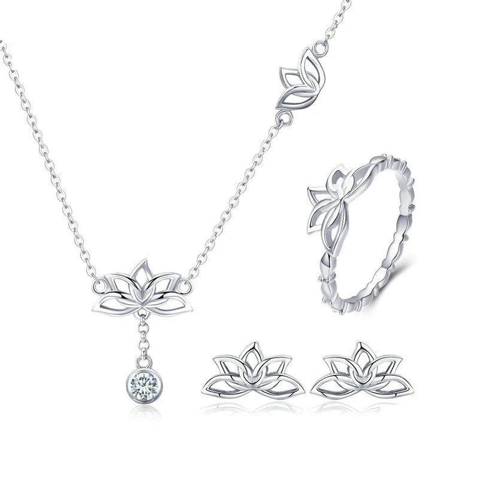 Sterling Silver Jewellery Set - ZHS067
