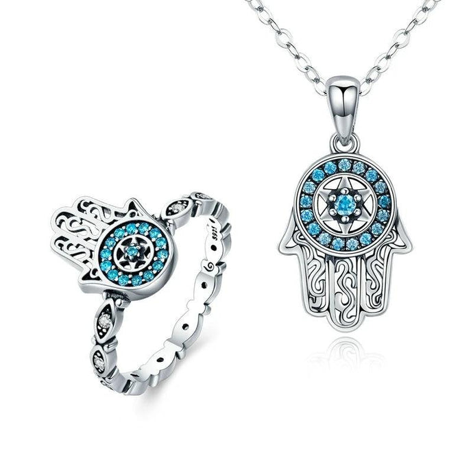 Sterling Silver Jewellery Set - ZHS091