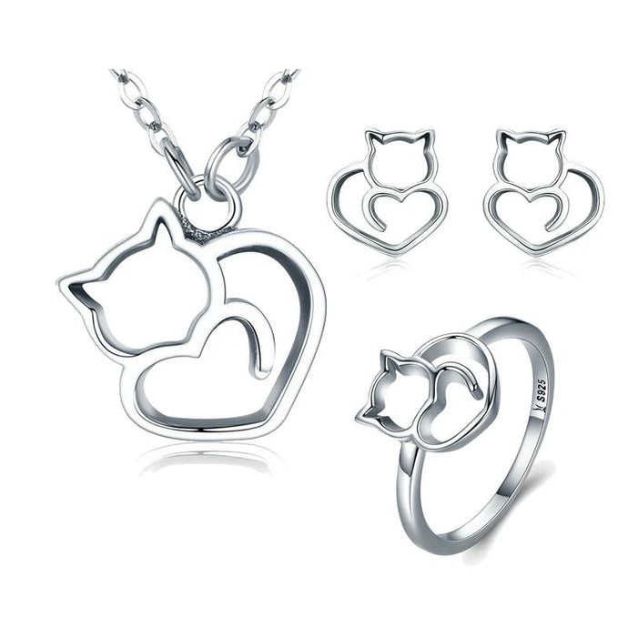 Sterling Silver Jewellery Set - ZHS093