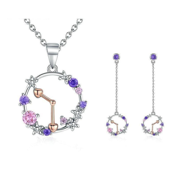 Sterling Silver Jewellery Set - ZHS095