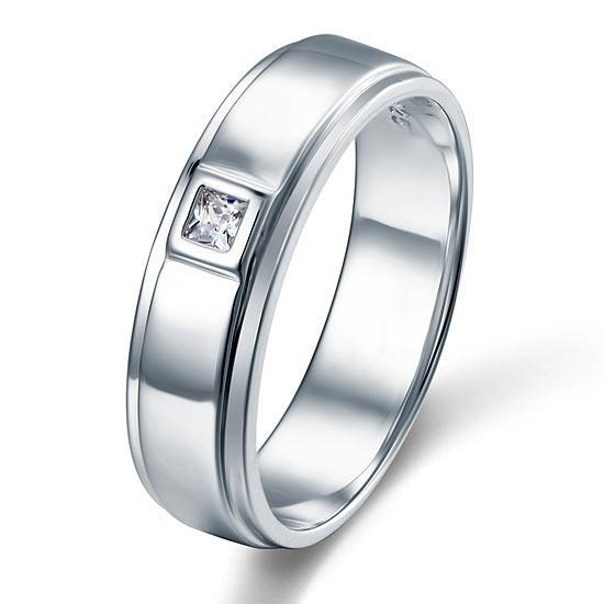 Sterling Silver Men's Ring - PFR8051