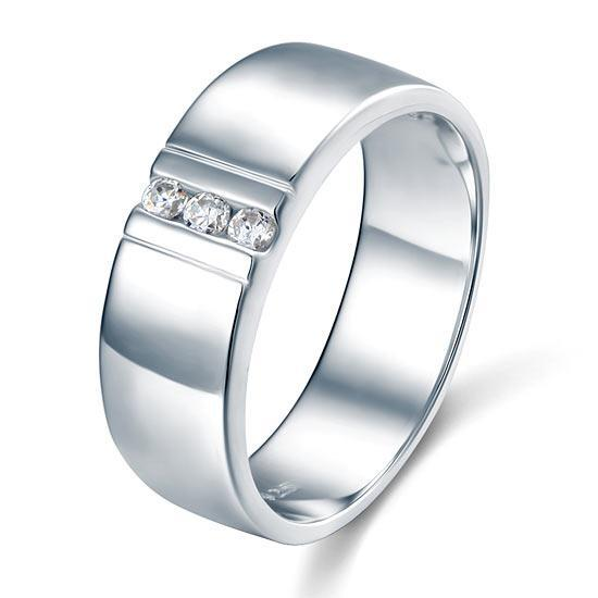 Sterling Silver Men's Ring - PFR8054