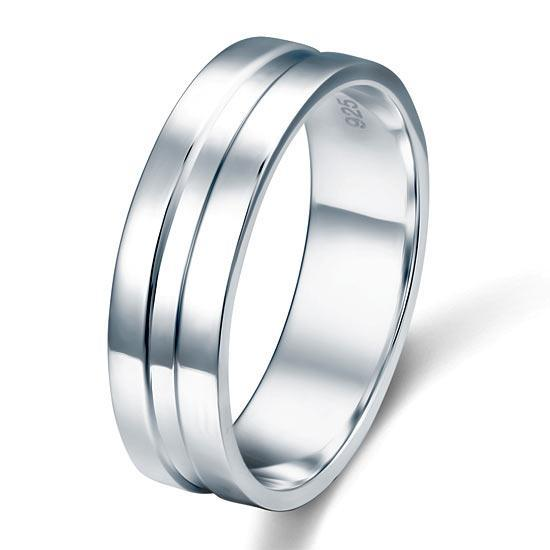 Sterling Silver Men's Ring - PFR8058