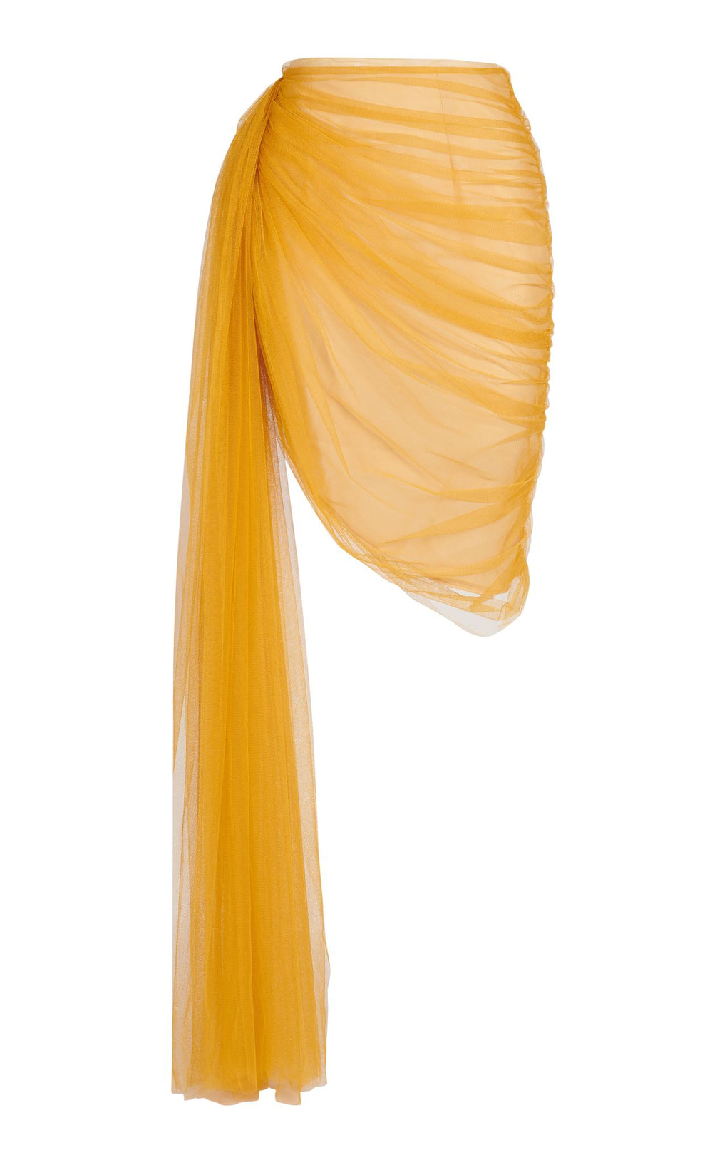 Yellow tulle knee length skirt
