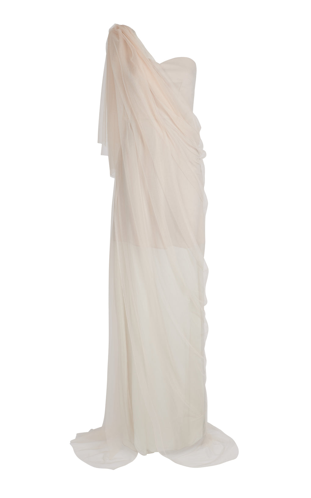 One shoulder Silk Chiffon Gown