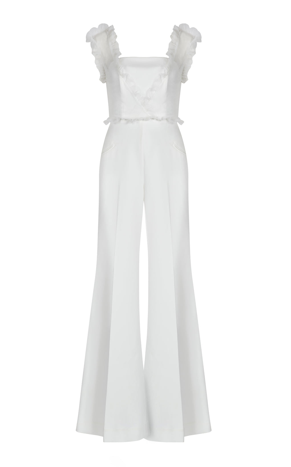 Off White crepe jumpsuit