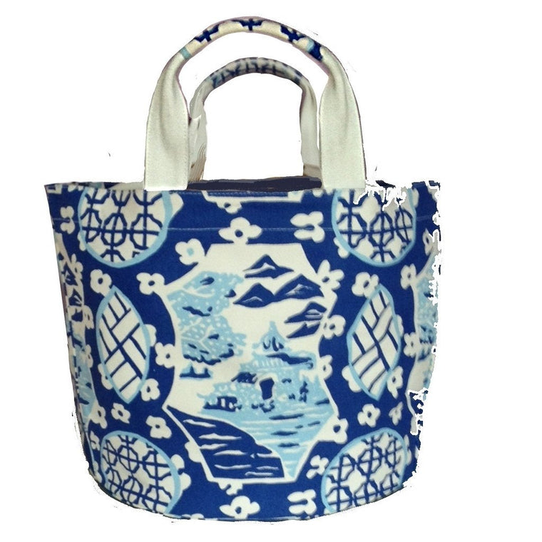 Dana Gibson Canvas Tote (blue or pink)