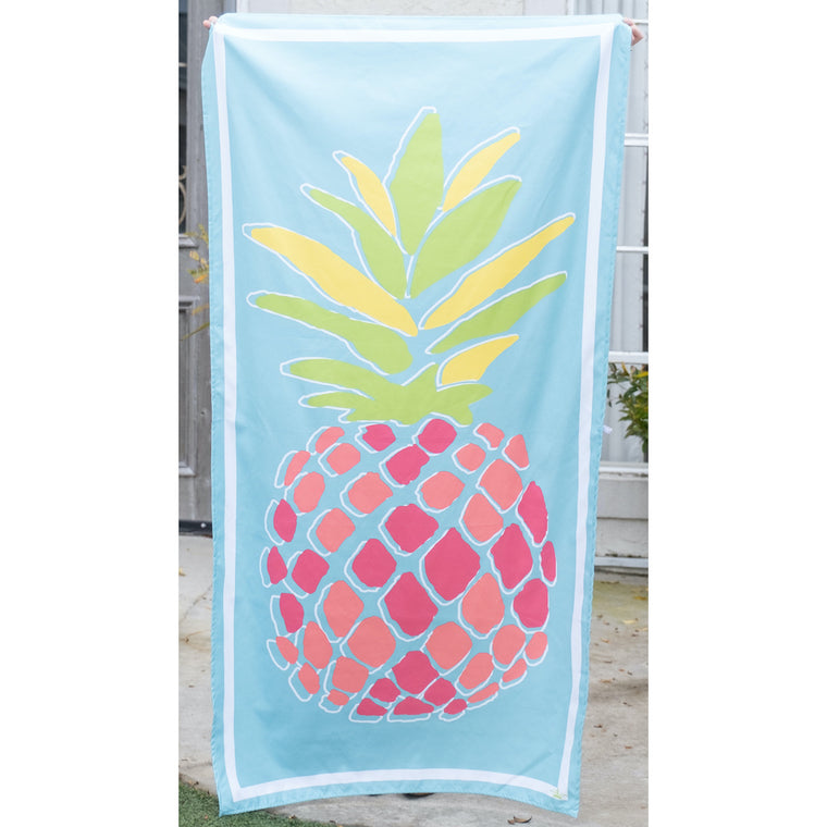 Pineapple Beach Towel in Aruba Blue