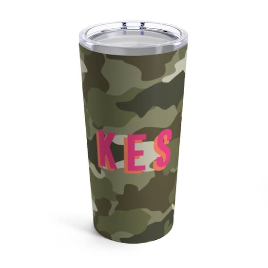 Custom Camo Insulated Tumbler