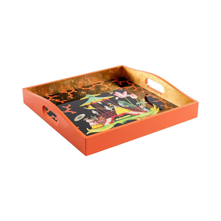 The Courtship Lacquer Square Tray