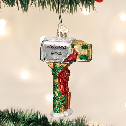 Welcome Home Mailbox Christmas Ornament