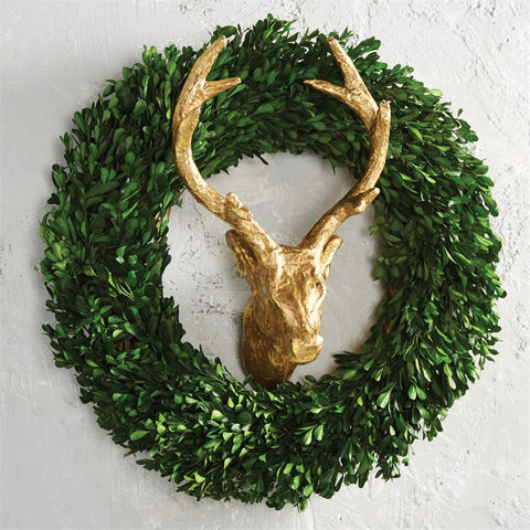 Gold Deer Wreath Wall Decor