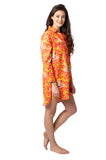 Mandarin Monkey Sateen Sleep Shirt
