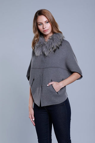 Raccoon Structured Cardigan (Grey)