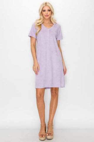 Audrey V Neck Dress (Sage or Lavender)