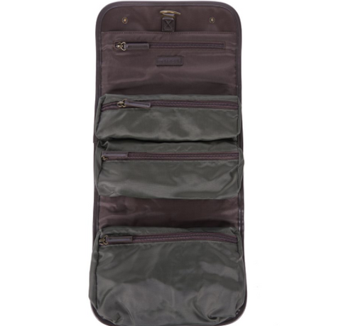 Barbour Hanging Waxed Washbag Olive