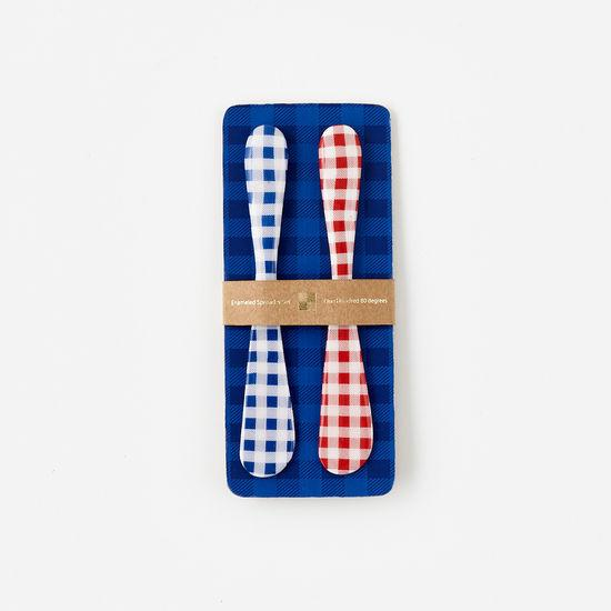 Gingham Spreader Set Of Two