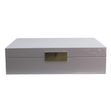 8x11 Lacquered Grey & Silver Jewelry Box
