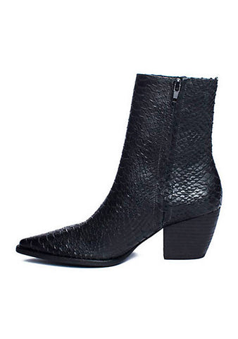 Matisse Black Snake Short Boot