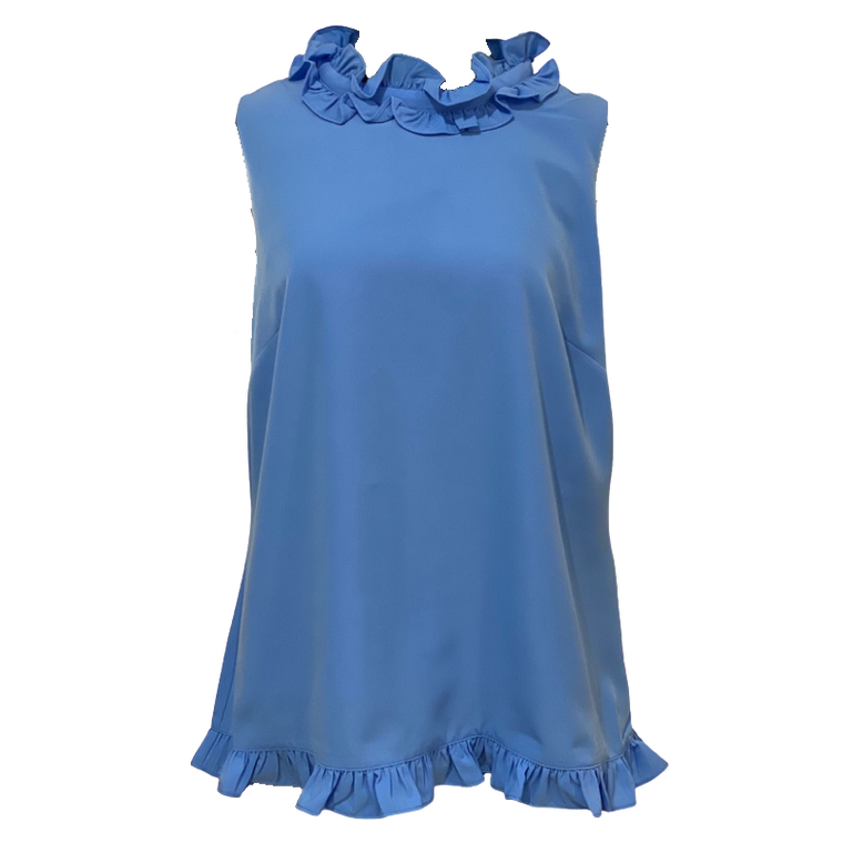 Sleeveless Double Ruffle Top