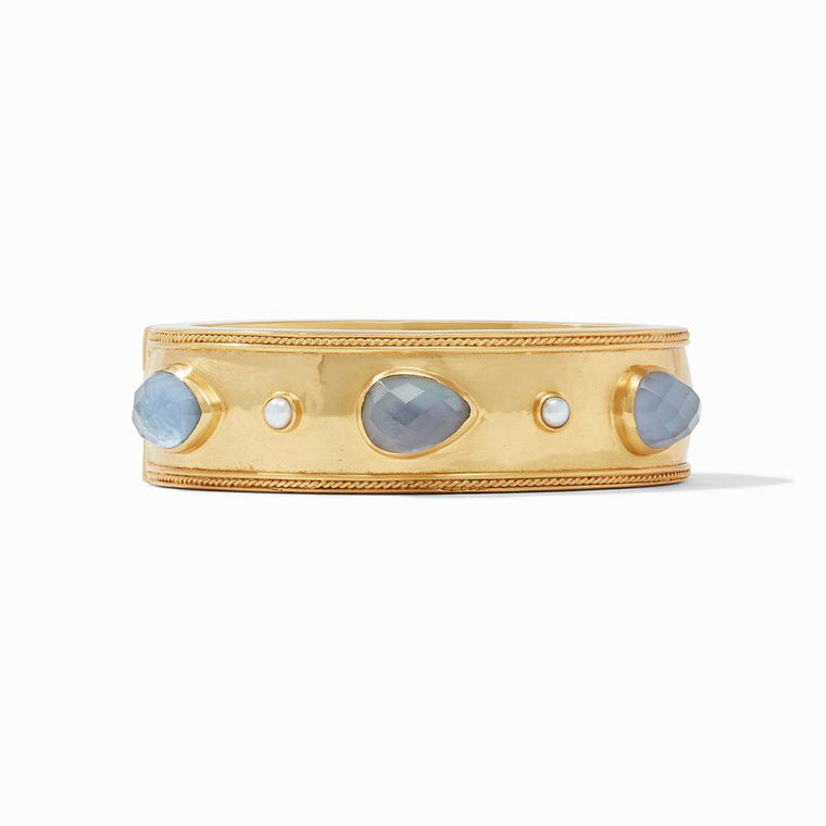 Gemstone Cassis Statement Hinge Bangle