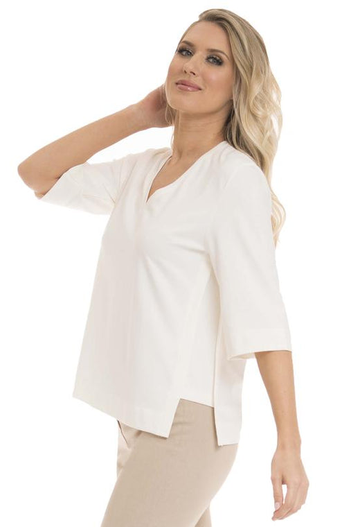 Lior V Neck Top with Side Panel