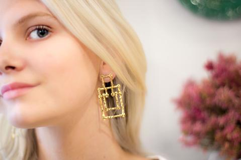 Hazel Smyth Large Bamboo Pagoda Post Earrings