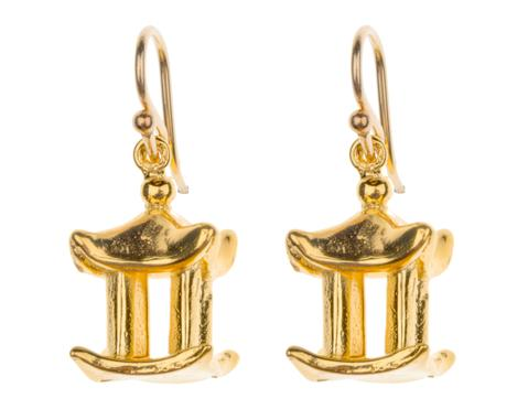 Hazel Smyth Small Pagoda Charm Earrings