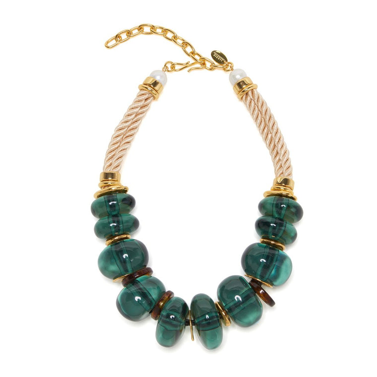 Botero Necklace in Forest Green