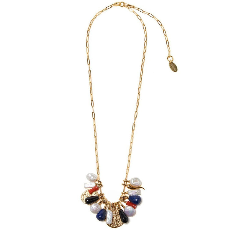 Lizzie Fortunato Heritage Charm Necklace