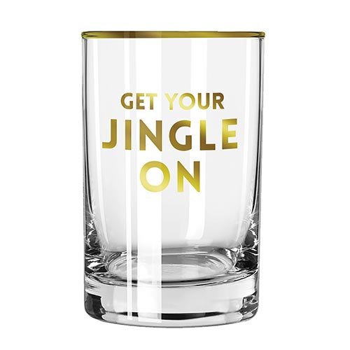 Get your Jingle On Rock Glass
